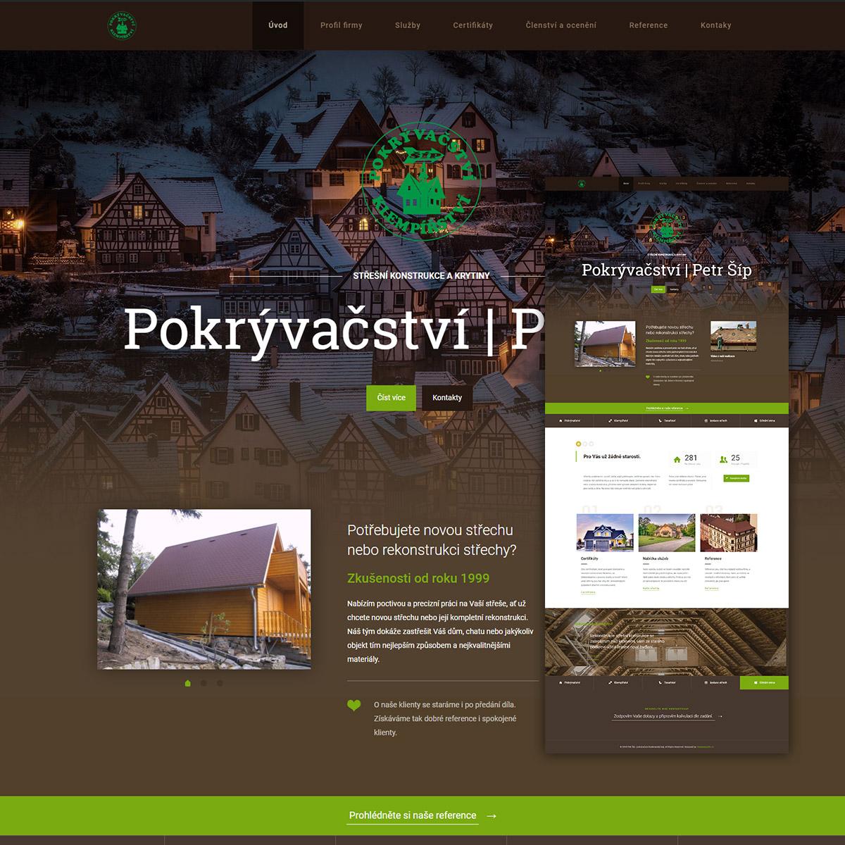 Tvorba www stránek pro Petra Šípa