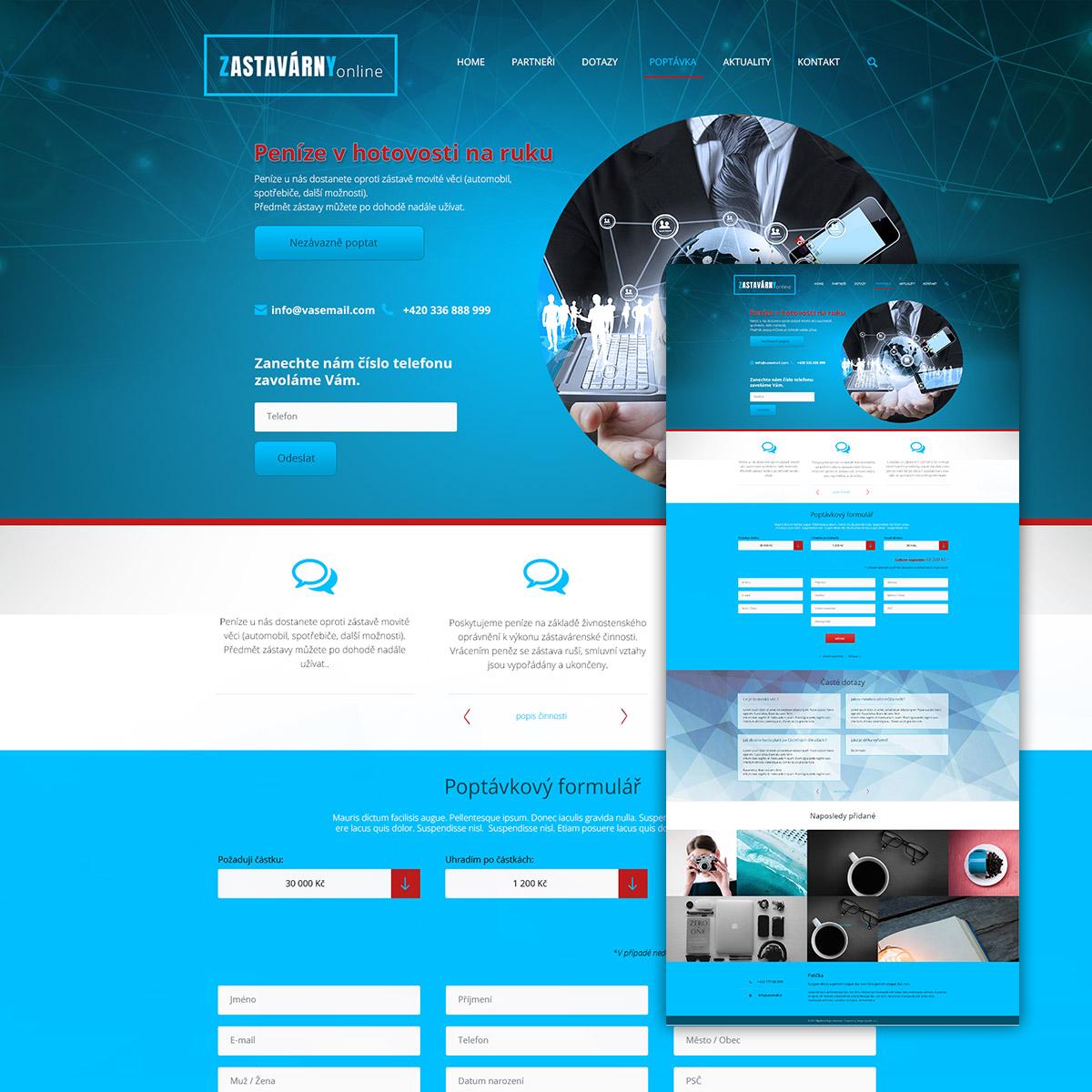 grafický návrh www stránek
