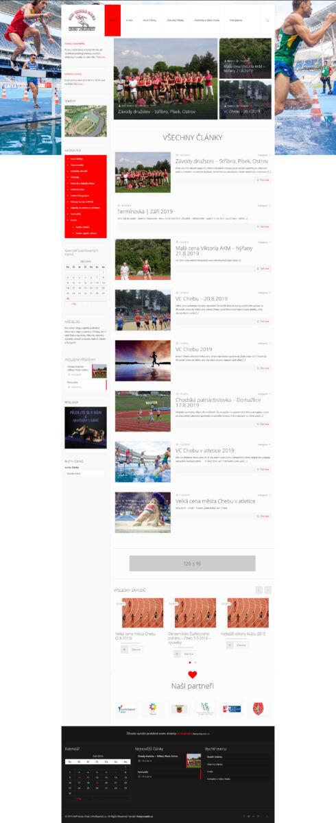 Tvorba www stránek pro Atletikacheb