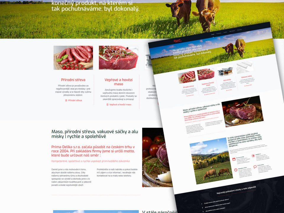 Tvorba www stránek pro firmu Prima Delika s.r.o.